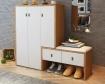 Mẫu tủ giày gỗ MDF kèm ghế đôn - VD 1